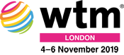 Logo WTM in London, UK